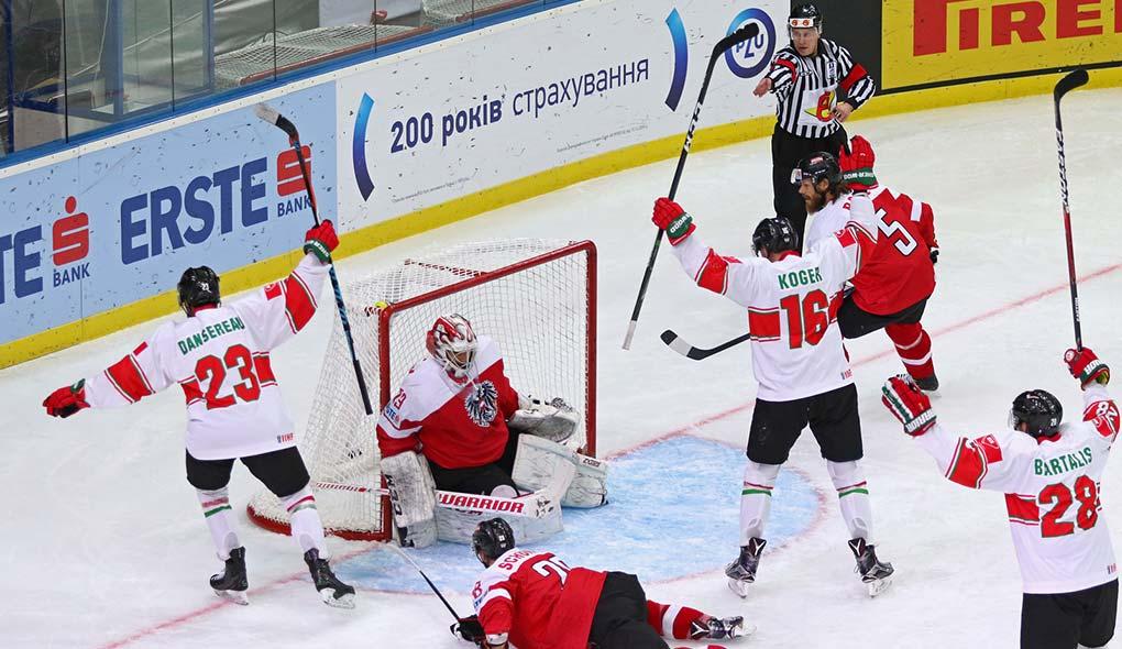 Three on two hockey rush