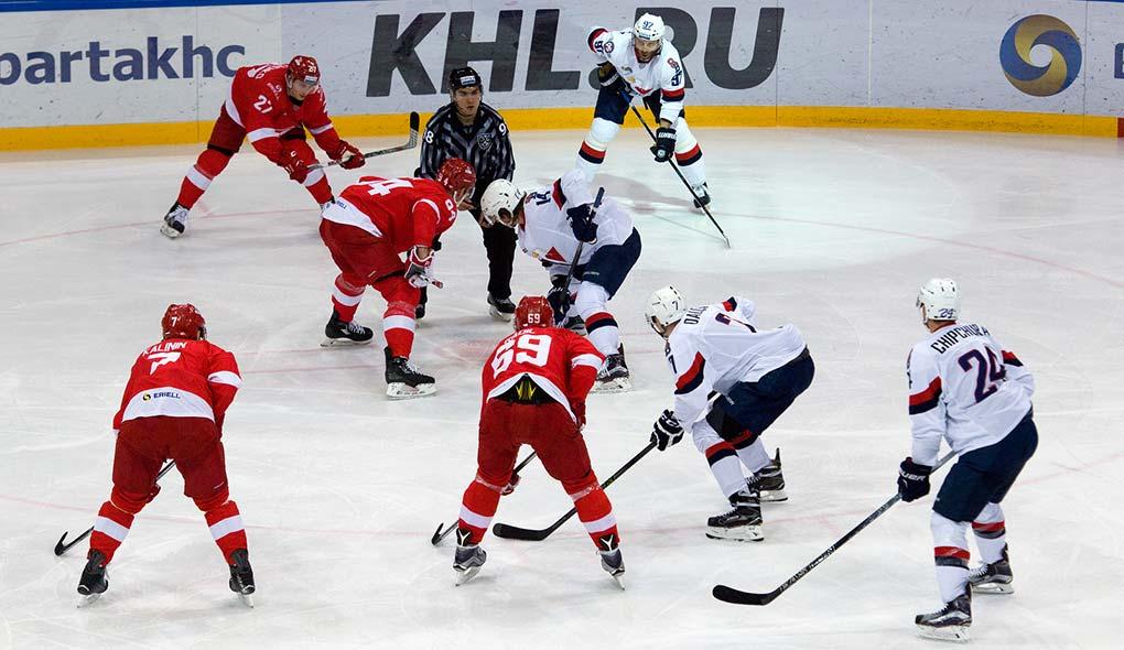 hockey puck drop