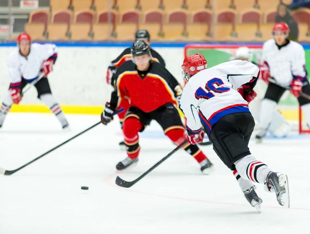 hockey shot block