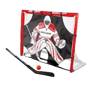 """Bauer Street Hockey Goal w/ Shooter Tutor, Stick & Ball - 48"""" x 37"""" x 18"""""""