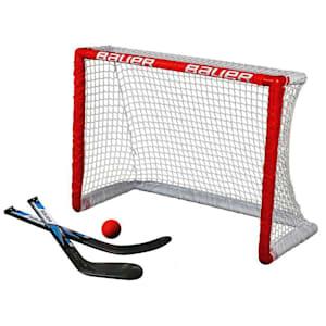 Bauer Knee Hockey Goal w/ 2 Sticks & 1 Ball