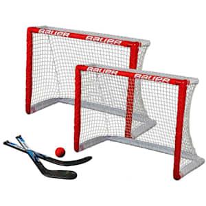 Bauer Knee Hockey Goal Set w/2 Goals, 2 Sticks & Ball