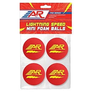 A&R Lightning Speed Mini Hockey Balls - 4 Pack