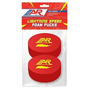 A&R Lightning Speed Foam Hockey Puck - 2 Pack