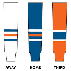 NHL Team Hockey Socks - Edmonton Oilers - Intermediate