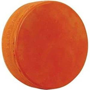 Weighted Ice Hockey Puck - Orange 10 Ounce