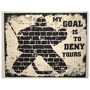 Painted Pastimes Goalie Canvas Print (16x20)