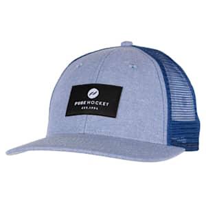 Pure Hockey Chambray Royal Mesh Back Hat - Adult