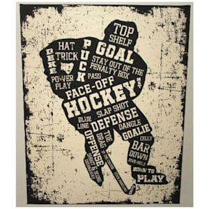 """Painted Pastimes """"Hockey Player"""" Canvas Art - 16"""" x 20"""""""