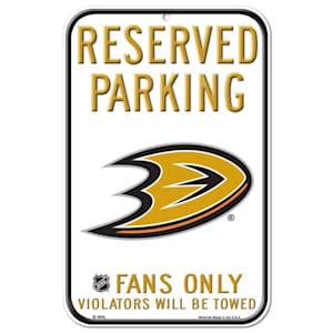 Wincraft NHL Reserved Parking Sign - Anaheim Ducks