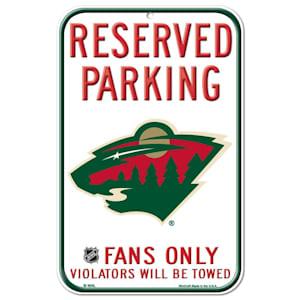 Wincraft NHL Reserved Parking Sign - Minnesota Wild