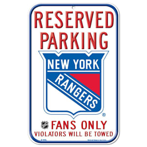 Wincraft NHL Reserved Parking Sign - New York Rangers