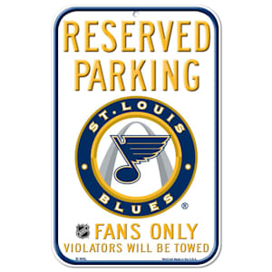 Wincraft NHL Reserved Parking Sign - St. Louis Blues