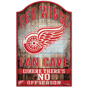 "Wincraft NHL Wood Sign - 11"" x 17"" - Detroit Red Wings"
