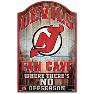 """Wincraft NHL Wood Sign - 11""""  x 17""""  - New Jersey Devils"""