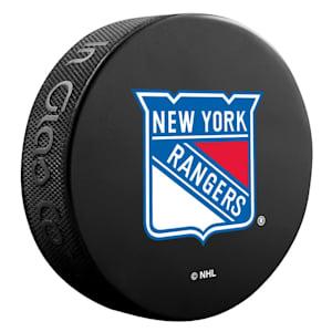 InGlasco NHL Basic Logo Puck - New York Rangers