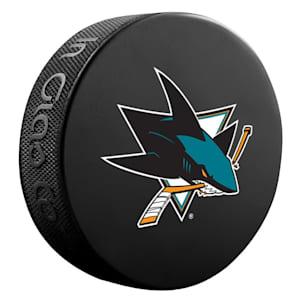 InGlasco NHL Basic Logo Puck - San Jose Sharks