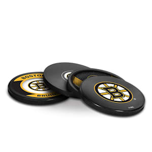 InGlasco Puck Coasters Pack - Boston Bruins