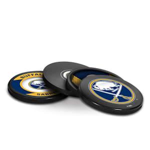 InGlasco Puck Coasters Pack - Buffalo Sabres