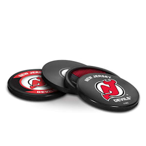 InGlasco Puck Coasters Pack - New Jersey Devils