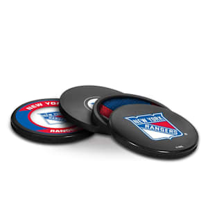 InGlasco Puck Coasters Pack - New York Rangers