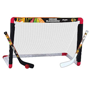 Franklin NHL Team Mini Hockey Goal Set - Chicago Blackhawks