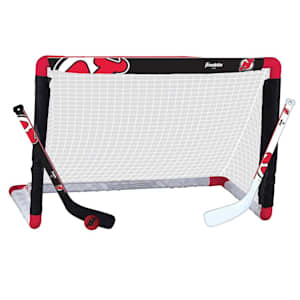 Franklin NHL Team Mini Hockey Goal Set - New Jersey Devils