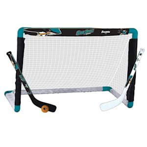 Franklin NHL Team Mini Hockey Goal Set - San Jose Sharks
