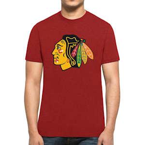 47 Brand Chicago Blackhawks Red Club Tee - Mens