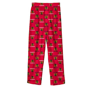 Adidas Printed Pajama Pants - Chicago Blackhawks - Youth