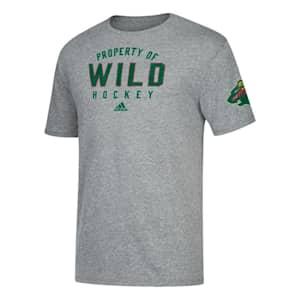 Adidas NHL Property Short Sleeve Tee Shirt - Minnesota Wild - Mens