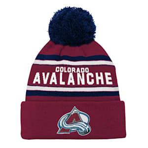 Adidas Colorado Avalanche Youth Pom Knit Hat