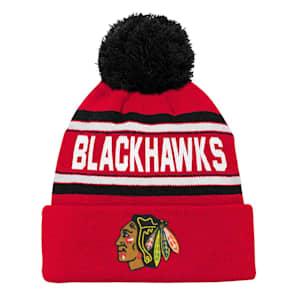 Adidas Chicago Blackhawks Youth Pom Knit Hat