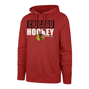 47 Brand Blockout Headline Hoody - Chicago Blackhawks - Adult
