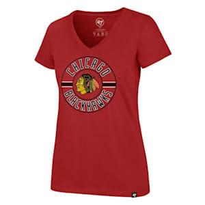 47 Brand Flip Ultra Rival V-Neck Tee - Chicago Blackhawks - Womens