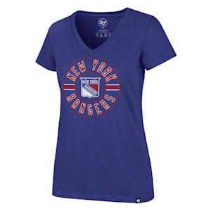 47 Brand Flip Ultra Rival V-Neck Tee - New York Rangers - Womens