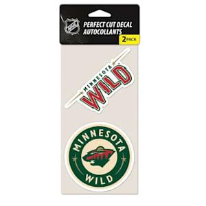 Wincraft Perfect Cut Decal 2PK - Minnesota Wild