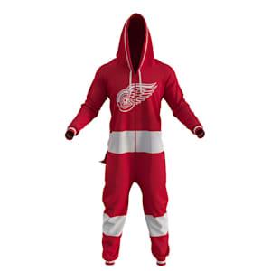 Hockey Sockey Detroit Red Wings Onesie - Adult