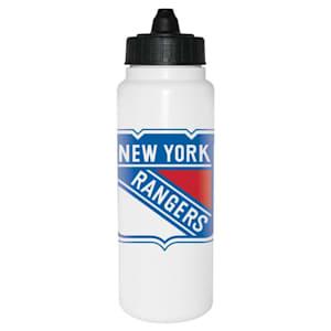 InGlasco NHL Water Bottle - Tall Boy 1000ml - New York Rangers