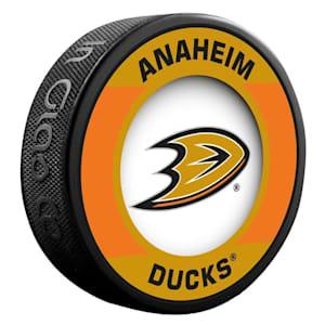 InGlasco NHL Retro Hockey Puck - Anaheim Ducks