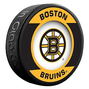 InGlasco NHL Retro Hockey Puck - Boston Bruins