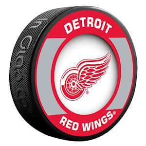 InGlasco NHL Retro Hockey Puck - Detroit Red Wings