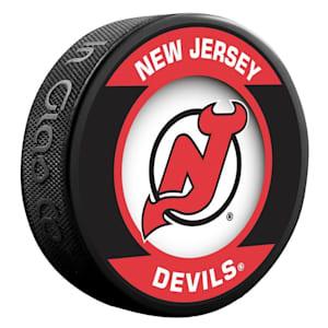 InGlasco NHL Retro Hockey Puck - New Jersey Devils