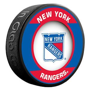 InGlasco NHL Retro Hockey Puck - New York Rangers