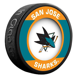 InGlasco NHL Retro Hockey Puck - San Jose Sharks