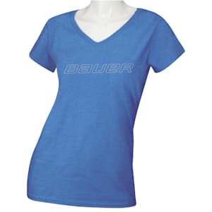 Bauer Core Short Sleeve V-Neck Graphic Tee Shirt - Womens