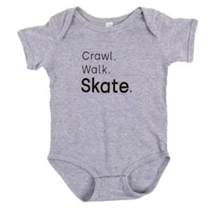 Crawl. Walk. Skate. Baby Onesie - Toddler