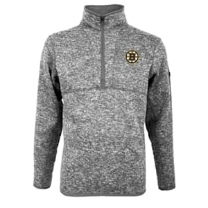 Boston Bruins Fortune 1/4 Zip Grey - Adult