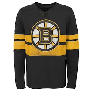 Adidas Boston Bruins Featured Classic Long Sleeve Tee - Youth