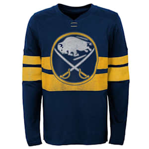Adidas Buffalo Sabres Featured Classic Long Sleeve Tee - Youth